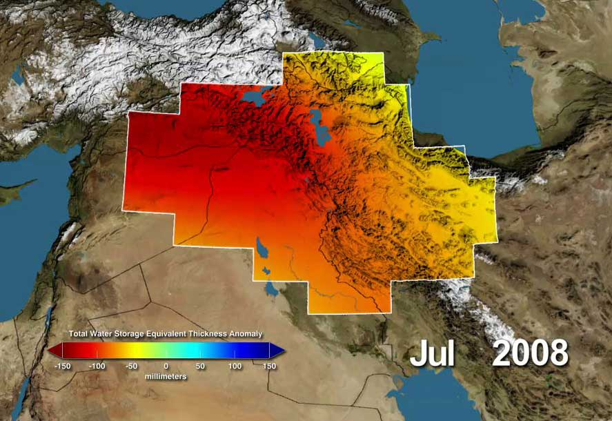 NASA study finds huge Middle East freshwater loss