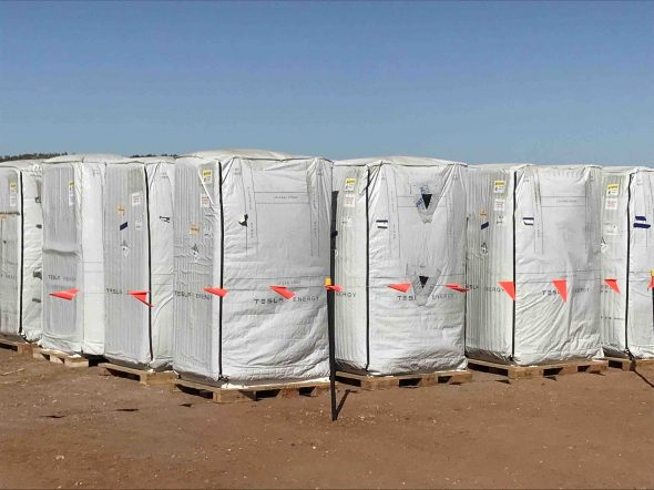 Tesla batteries ready for world's first wind-solar-battery project
