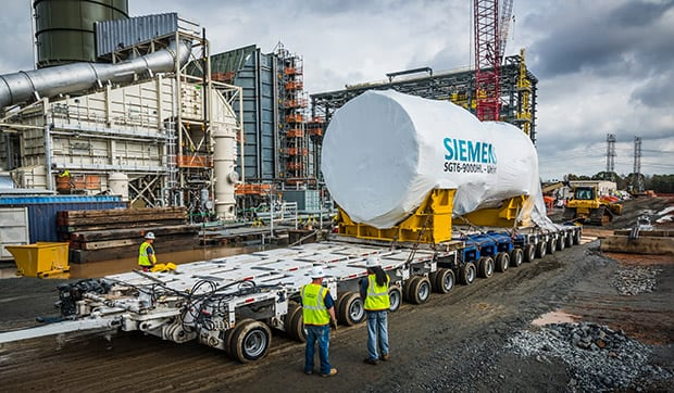 Siemens Delivers World's First HL-Class Gas Turbine to power station in US