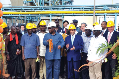 Groundbreaking at TAQA's Ghana power project