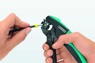 Crimping pliers with rotating die from Phoenix Contact