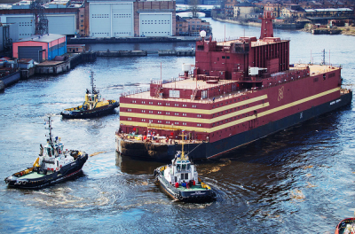 Rosatom's floating nuclear plant produces power at remote port