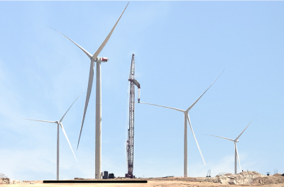 Construction of GCC's first utility-scale  wind energy project on track