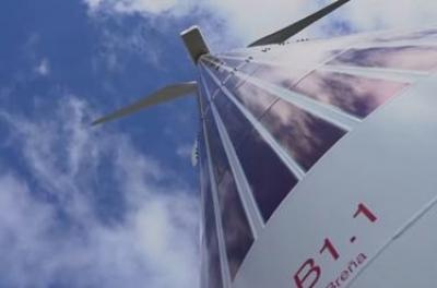 Acciona installs flexible organic pv modules in a wind turbine tower