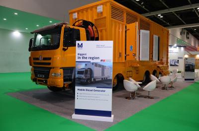 Al Masaood Power unveils mobile Electric Power generator with MTU diesel genset