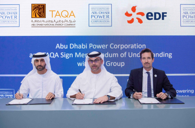 Abu Dhabi Power Corporation and TAQA Sign MoU with EDF Group