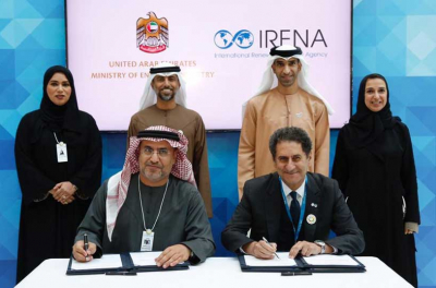 IRENA partners with the UAE Ministry of Energy to promote renewables