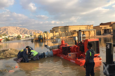 Xylem supports local authorities for swift pump out of rainwater in the UAE, following heavy flooding