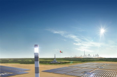 Central Tower of 700 MW CSP Project by Shanghai Electric and DEWA Tops Out in Dubai