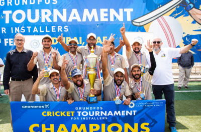 Grundfos organises cricket tournament plumbers in UAE