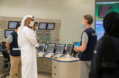 UAE Crown Prince inspects progress at the country's first nuclear power project