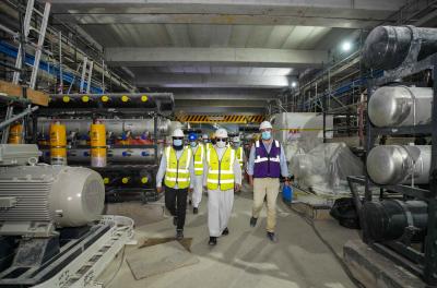 DEWA MD & CEO reviews progress on SWRO-based desalination plant in Jebel Ali