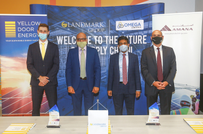 Landmark Group signs 2.6 MWp solar deal with Yellow Door Energy and AMANA Investments