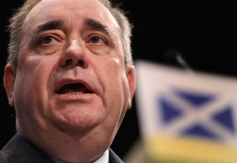 Scottish First Minister Alex Salmond says Masdar could help develop low-carbon tech for Scotland. (Getty Images)