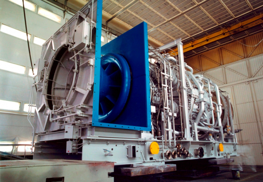 A GE 6FA gas turbine.