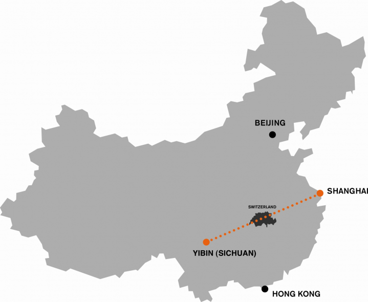 The transmission link stretches from the Xiangjiaba hydropower plant to Shanghai.
