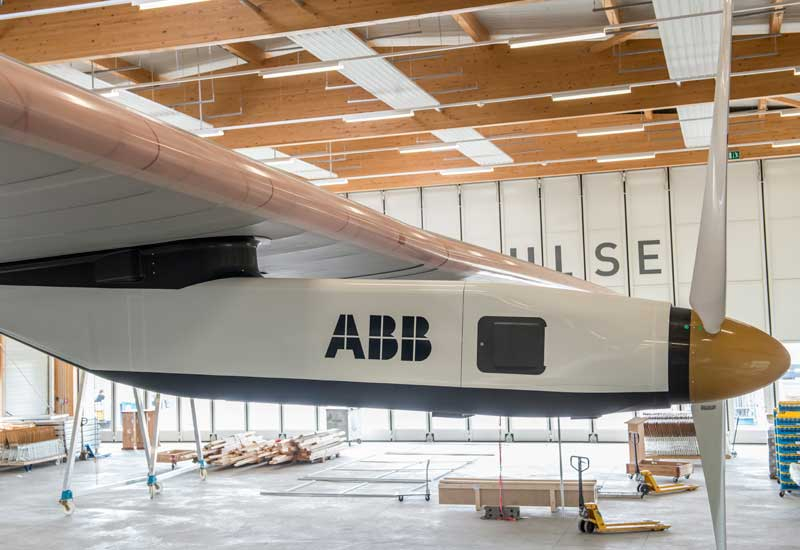 ABB supports Solar Impulse's plan to fly round the world in a solar plane.