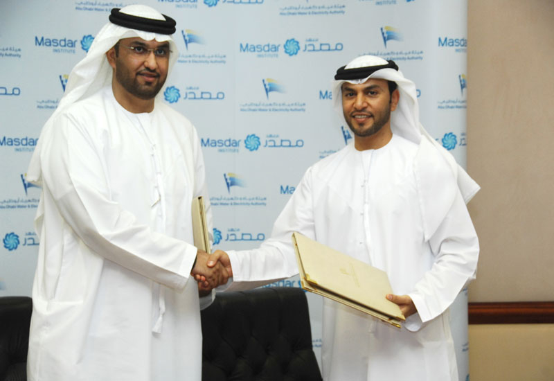 ADWEA and Masdar Institute will collaborate on research and development of sustainable technologies.