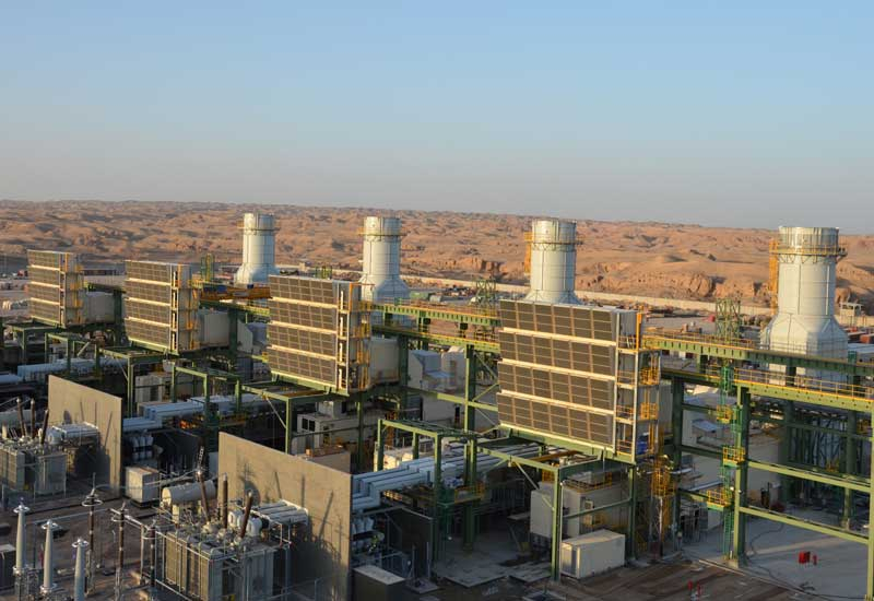 View of a power plant in Iraq.