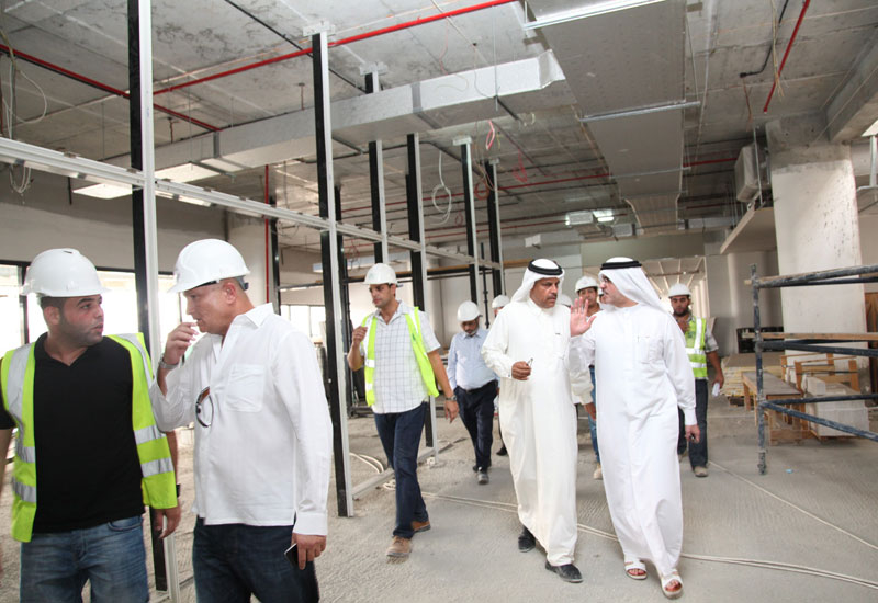 H.E Saeed Mohammed Al Tayer inspects the new Al Quoz building.