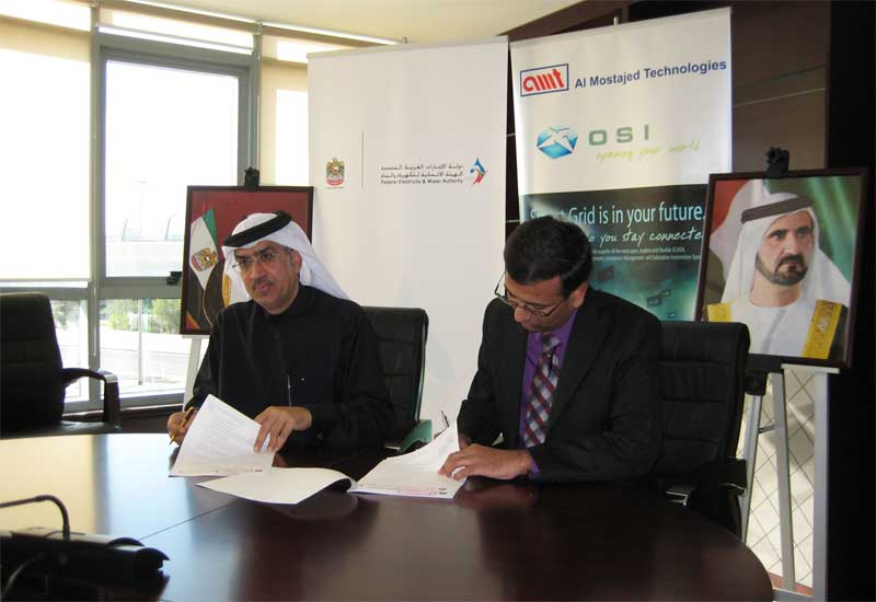 FEWA officials signing the contract.