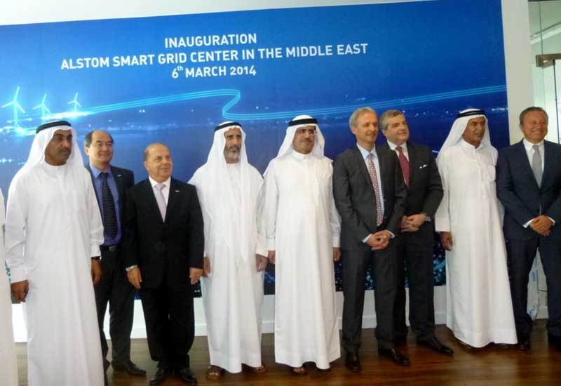 The inaugurated of Alstom's smart grid facility in Dubai