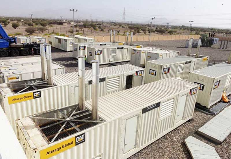 Cat's temp power solutions at work in Oman.