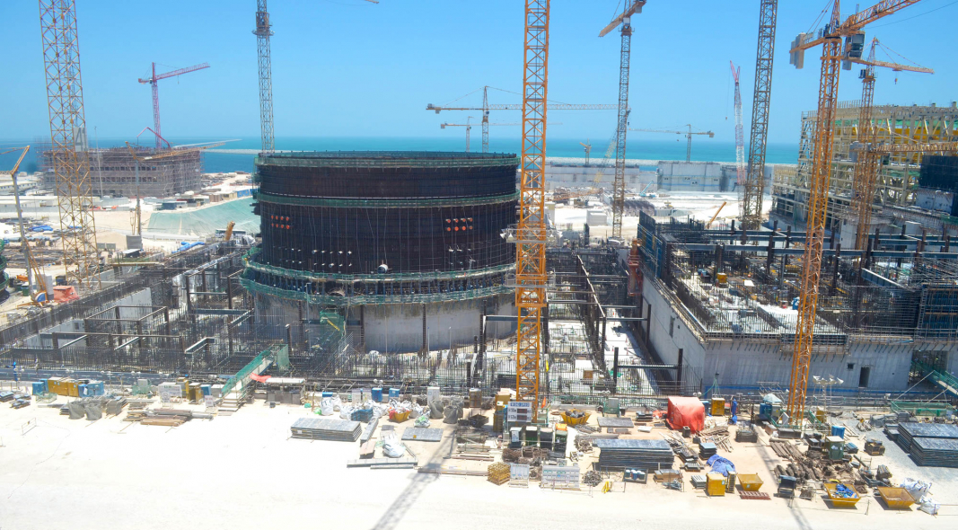 Construction site of the Barakah plant.