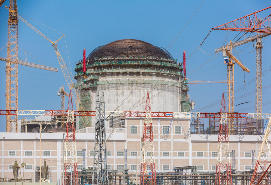 The Barakah nuclear power plant in UAE is in its final construction phase