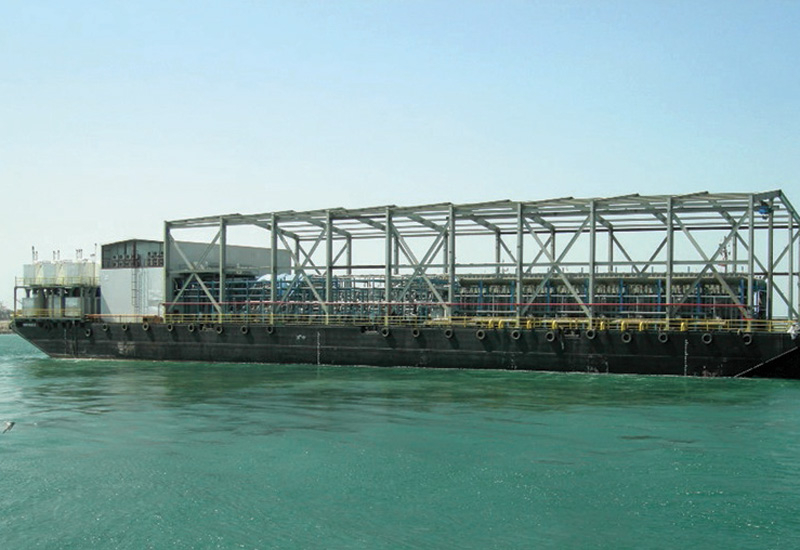 The Shuaiba barge, one of Dow Water & Process Solutions' major projects in Saudi Arabia.