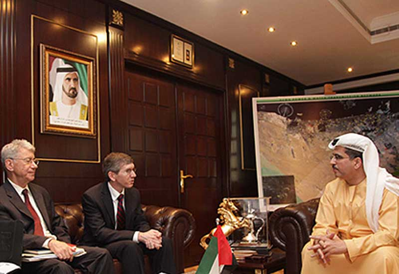 DEWA CEO and MD Saeed Mohammed Al Tayer (R) with the  US Consul General to Dubai