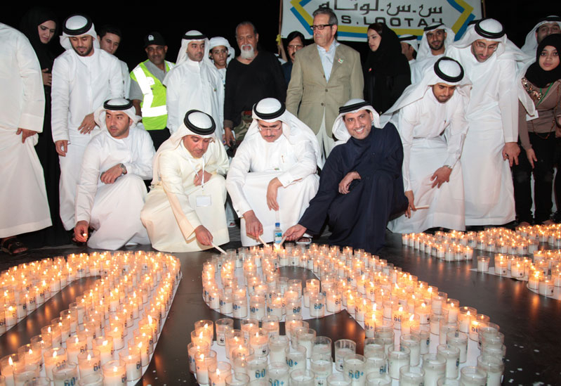 HE Saeed Mohammed Al Tayer, MD and CEO of DEWA inaugurated Dubai's Earth Hour 2012 efforts at the Burj Plaza.