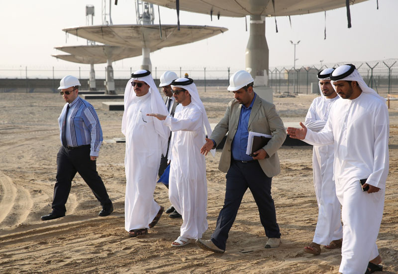 Mohammed Al Tayer visits the solar testing facility