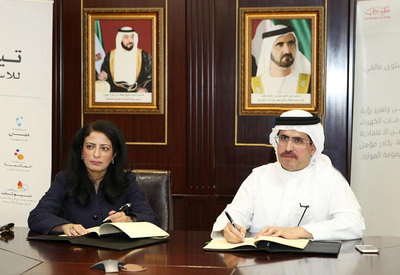 Dr. Amina Al Rustamani and HE Saeed Mohammed Al Tayer