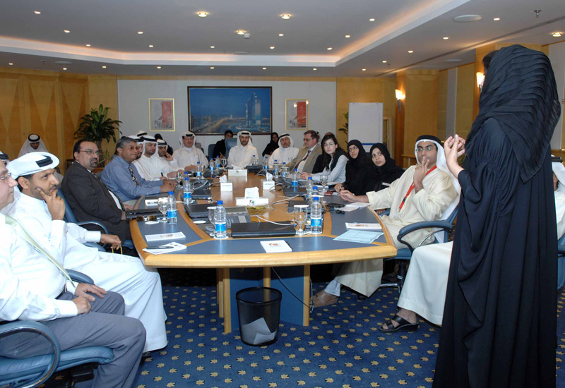 Eng Mariam Al Hammadi, head of Corporate Excellence at Dubai Municipality, speaks at the recent meeting.