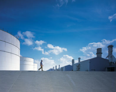 A view of DUBAL's aluminium production plant.