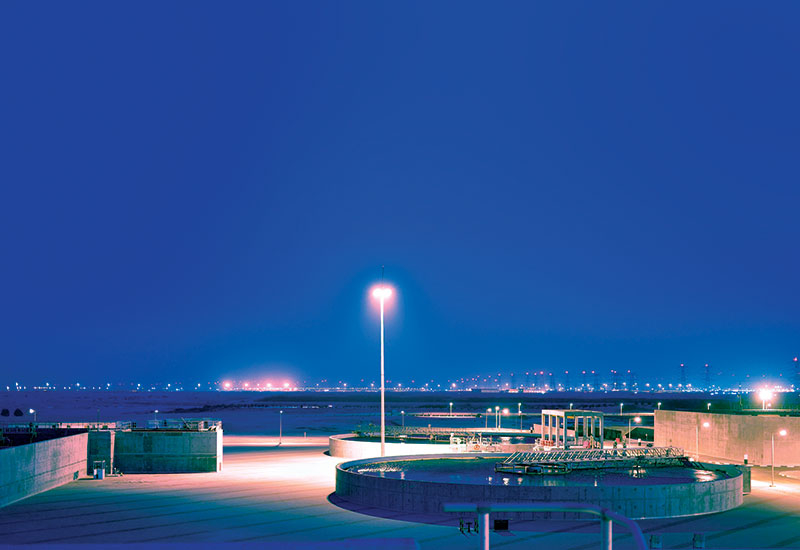 The Doha West wastewater plant in Qatar
