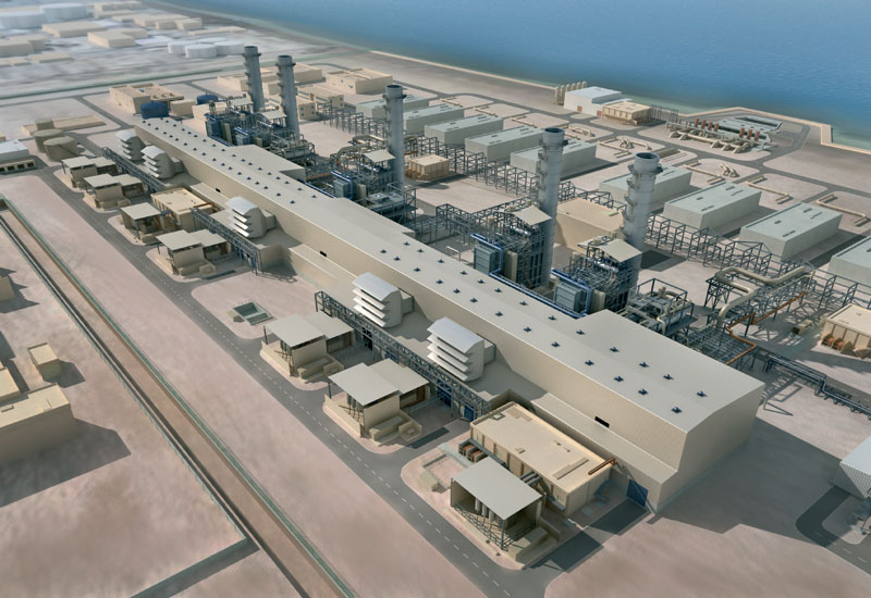 A 3D Model of the Fujairah II power and desalination plant .