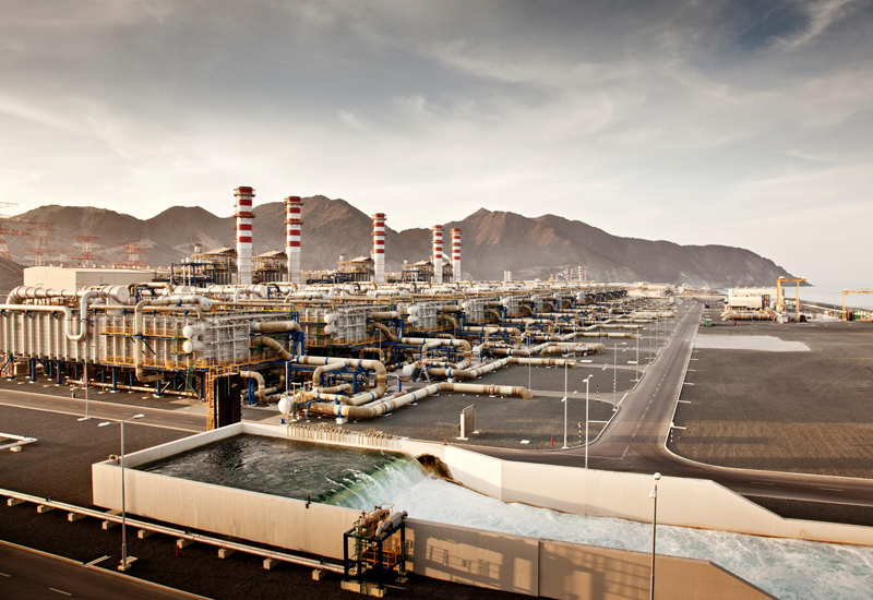 TAQA's Fujairah F2 ppwer and desalination plant, inaugurated last year.