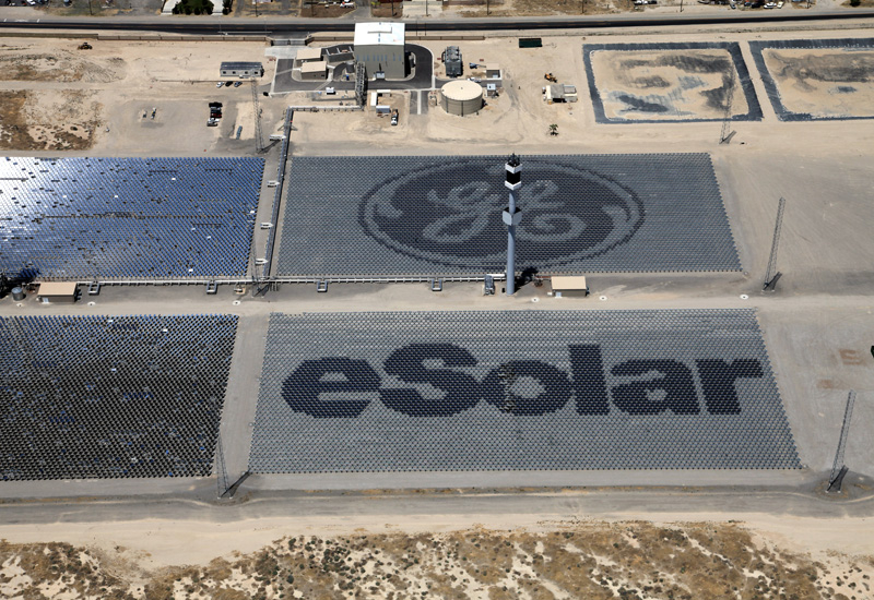 GE in tie-up with eSolar to provide ICSS technology.