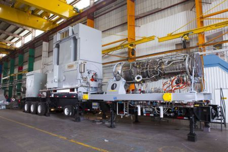TM2500+ mobile aeroderivative gas turbine