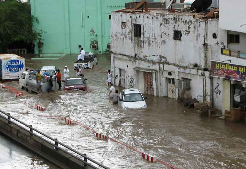 Jeddah like many cities in the region lacks adequate drainage systems. (GETTY)