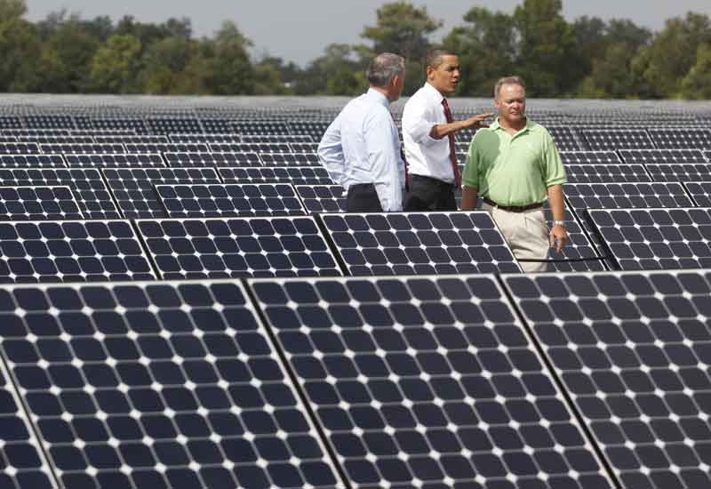 The Recovery Act of 2009 was enacted by the Obama administration to invest in clean energy projects as well as other parts of the US economy. (GETTY)