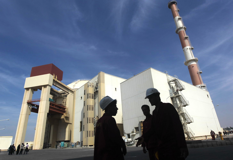 Fuel is reloaded into Bushehr nuclear plant, as officials hope to resume work in early May. (Getty Images)