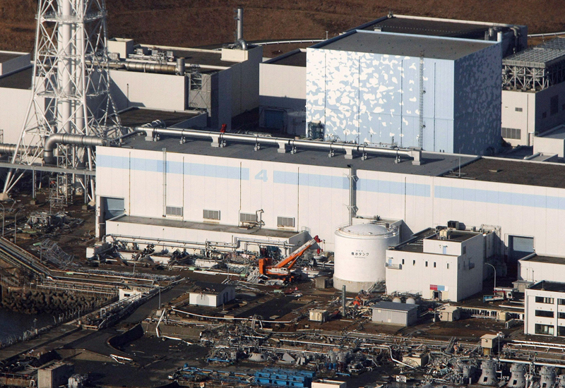 An aerial view of Japan's Fukushima plant, as officials say further gas release is unavoidable. (Getty Images)