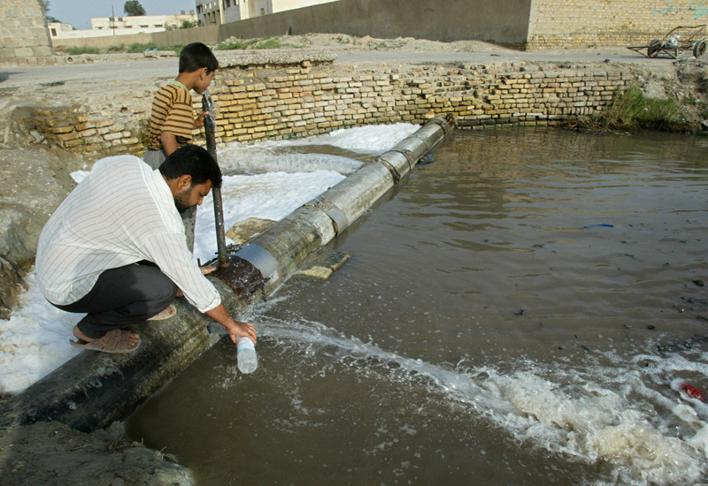 Spanish firm Aqualia to be in charge of Riyadh's water leak detection withing two years. (Getty Images)