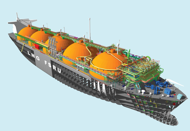 DUSUP's floaring LNG facility in at Jebel Ali Port. (Getty Images)