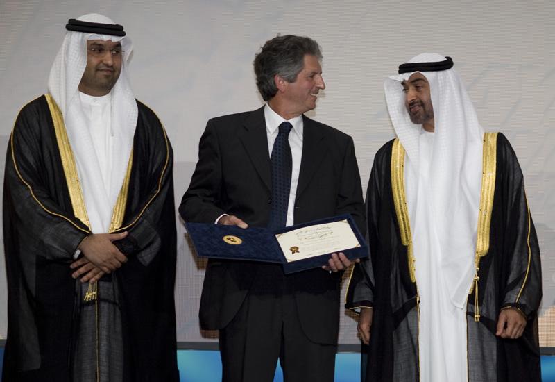 Masdar CEO and ZFEP director general Dr Sultan Al Jaber (left) at last year's award ceremony.