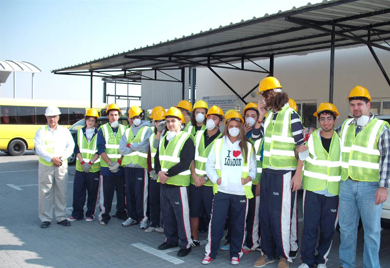 ISAS students tour Metito's wastewater treatment plant.