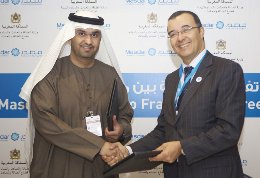 Masdar and Morocco will now work closely on renewable energy development.